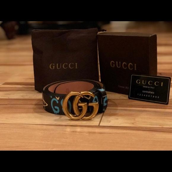 df9550d8d54 Gucci Ghost Blue belt. M 5b7b2a0274359b4609917d9e